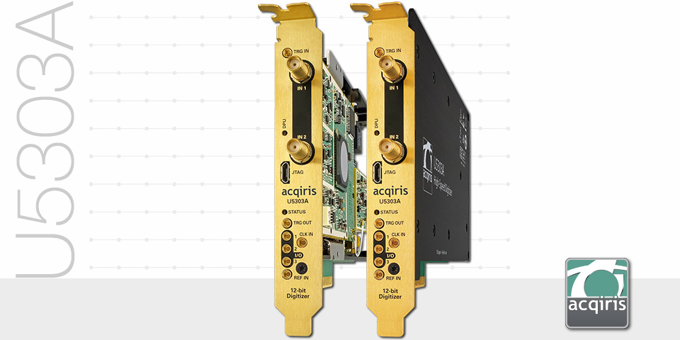 U5303A PCIe High-Speed Digitizer - ADC Card, 12-bit, from 500 MS/s to 4 GS/s, FPGA signal processing